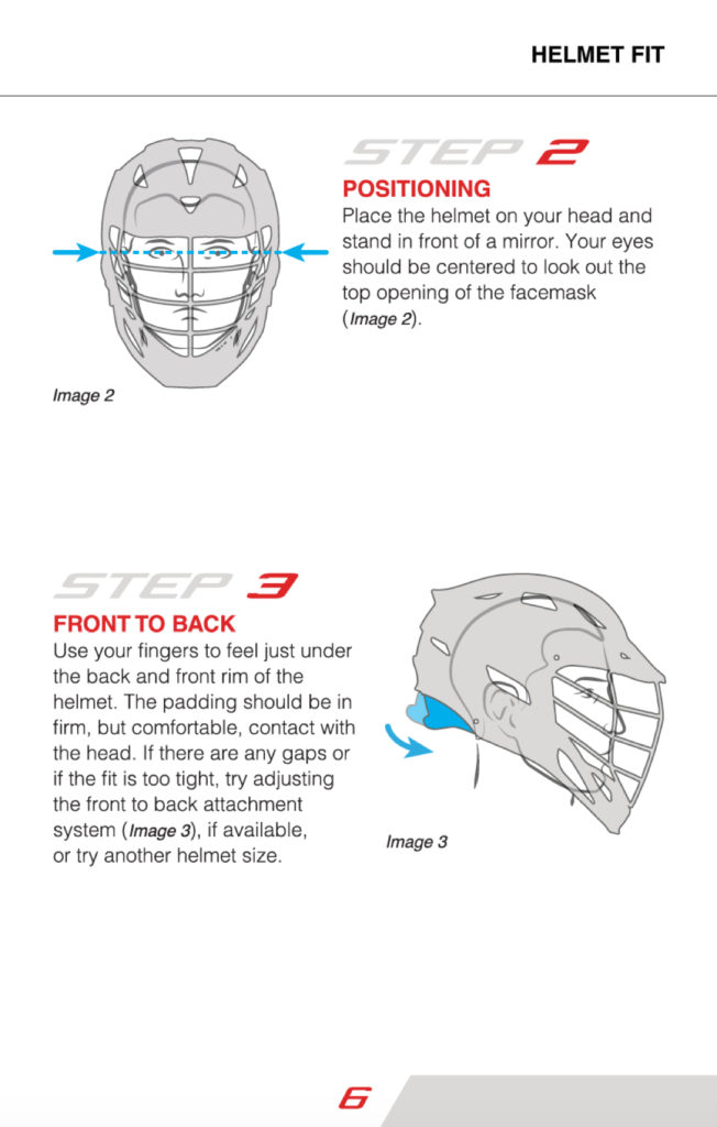 Cascade Lacrosse Helmet Safety Booklet and Information   Cascade