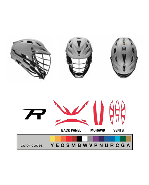 Cascade lacrosse decal sets customize your lax helmet cascade