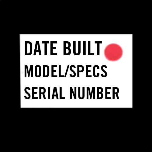 serial number sticker location 4